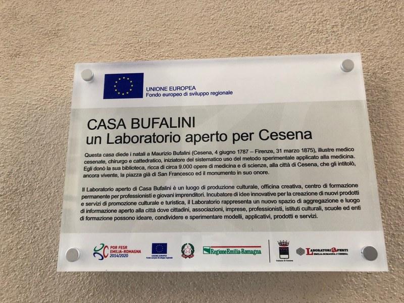 La targa del Laboratorio aperto