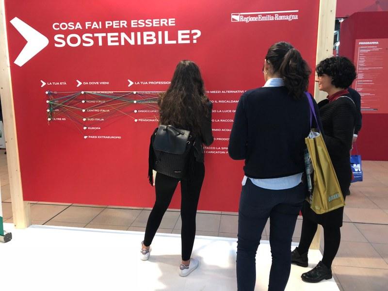 I sondaggi nello stand regionale: cosa fai per essere sostenibile?
