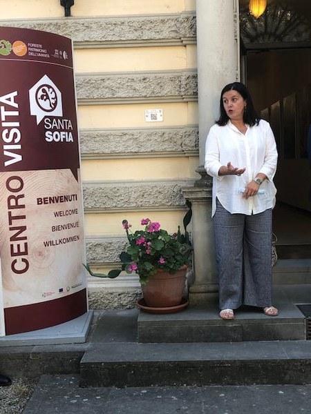 L'assessora regionale alla Montagna Barbara Lori all'inaugurazione