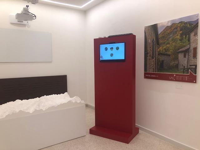 Installazione multimediale sulla geografia del Parco