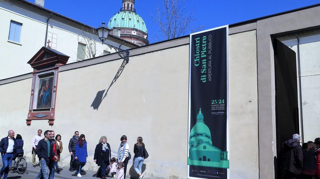 Apertura dei Chiostri di San Pietro e dell'installazione multimediale