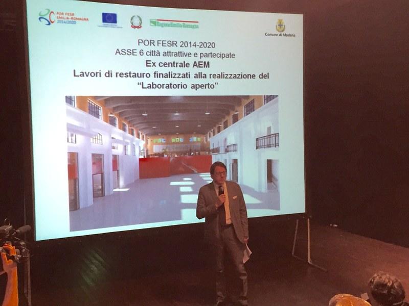 L'intervento del sindaco Gian Carlo Muzzarelli