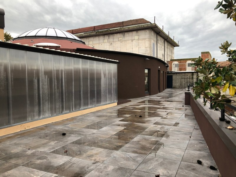 La terrazza esterna del Laboratorio aperto