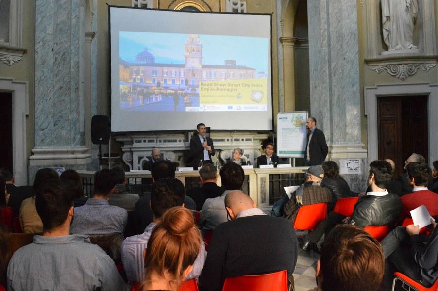 L'intervento del sindaco di Parma, Federico Pizzarotti