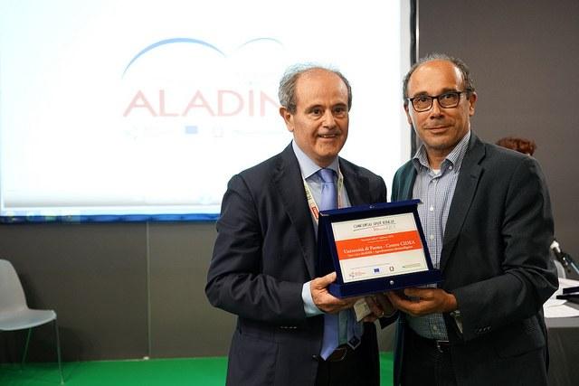 Il Prof. Renzo Valloni dell'Università di Parma per il video ALADIN