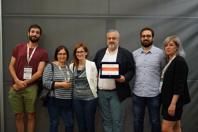 Il Prof. Giuseppe Mincolelli con lo staff di UniBO CIRI ICT per il video Habitat