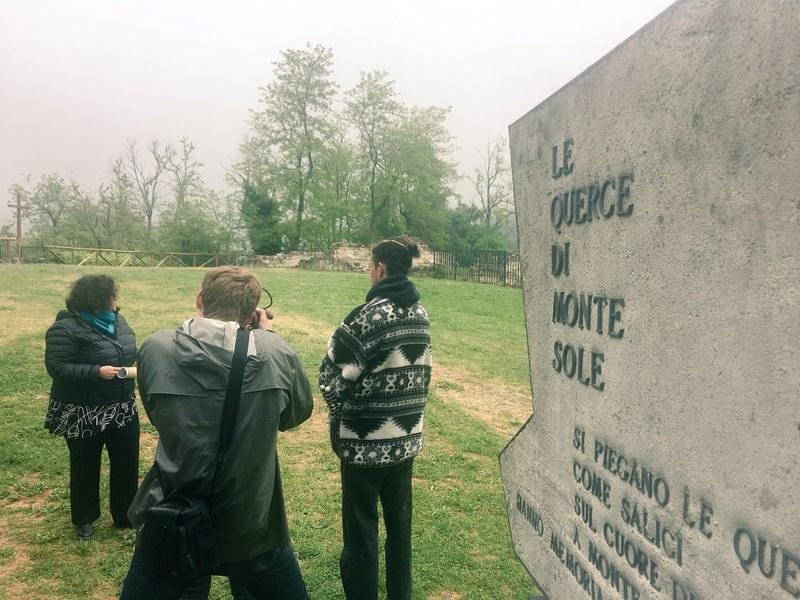 Seconda tappa a Marzabotto, alla Scuola di Pace di Montesole