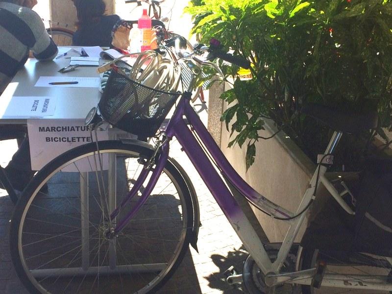 Marchiatura biciclette presso Regione Emilia-Romagna