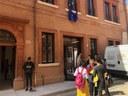 L'ingresso dell'ex Teatro Verdi nel centro storico di Ferrara