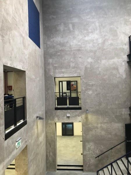 L'atrio dello spazio ristrutturato