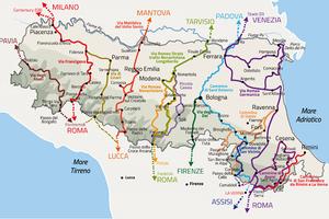 Cammini dell'Emilia-Romagna: online la mappa