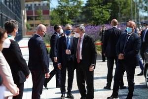 Il presidente Draghi in visita al Tecnopolo di Bologna