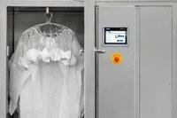 Piace agli Usa l'armadio termico per sanificare camici e mascherine