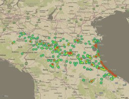 Mappa progetti presentati